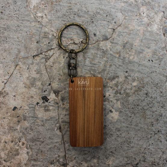 Bahan Souvenir Gantungan Kunci Kayu Jati untuk Laser, sablon dan aksesoris