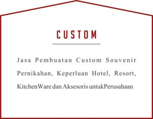 Custom Souvenir Laser Kayu Modern Simple