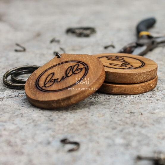 Merchandise-Laser-Kayu-Lingkaran-Engraving Custom- Terbaik Logo Kerajinan-Kayu-Jati-Indonesia